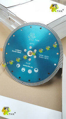 9 inch 230mm THK M14 thread flanged Diamond blade disc cutting grinding granite