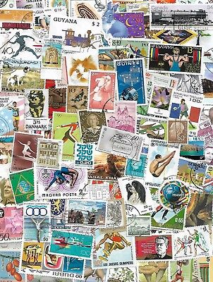 World, Kiloware, lot of 1000 ALL Different worldwide stamps, Off paper,mint,used
