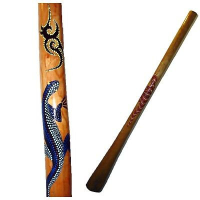 HIGH QUALITY Traditional Hand Carved Teak Didgeridoo 1.5m Free Case World Music