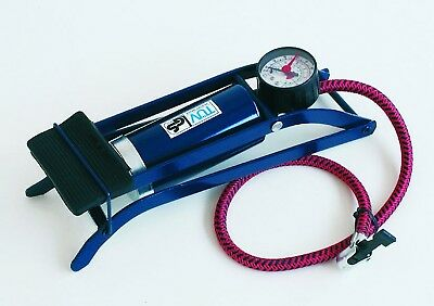 New Bargain! Quality FOOT PUMP FOOTPUMP SINGLE BARREL & GAUGE HILKA free post