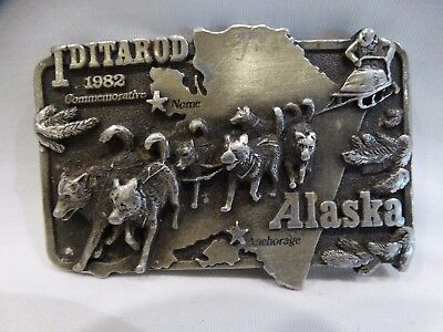1982 Commemorative Iditarod Alaska Belt Buckle  Le 667/1049