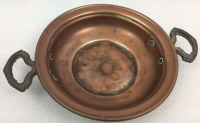 Antique Arts and Crafts  copper & brass bowl - vintage