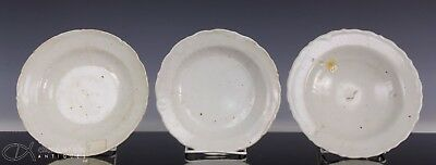 Lot Of Three Antique Chinese Glazed Dishes Plates - Ming Dynasty