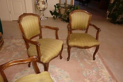 ANTIQUE CHAIR SET-- FRENCH LOUIS XVI STYLE: up to 6 CHAIRS--good condition