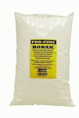 Pro-Cure Borax Plain Bulk Powder in Poly Bag, 1.8kg. Delivery is Free