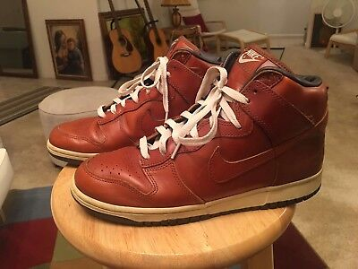Nike Dunk Hi/High 2003 Premium Curry Brown Leather US10.5 Sneakers Shoes