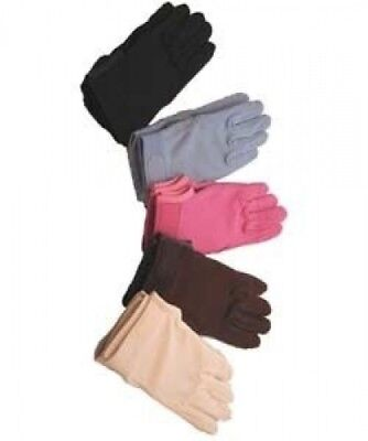 Horse Riding Gloves Cotton Pimple Palm in Brown - Small. Brand New