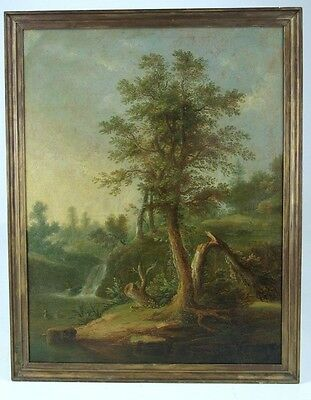 Antique Oil Painting, Oil On Canvas, Lightning Strike, France1820, B436 REDUCED