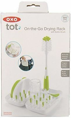 OXO tot On the Go Drying Rack with Bottle Brush   1-4