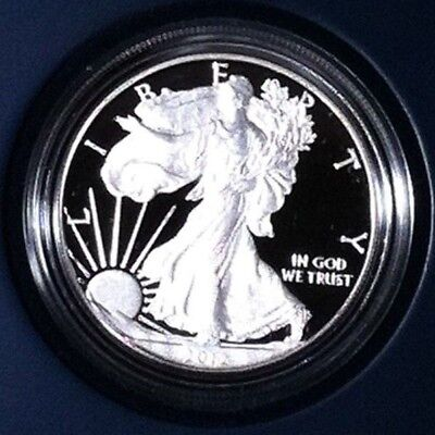 2012-S American Eagle Two Silver Coin Reverse Proof Set with box and coa nice!!