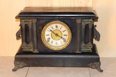 Classic Antique Sessions 8 Day Mantle Clock *RUNS*
