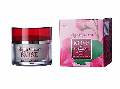 Night Face Cream Rose of Bulgaria with Natural Rose Water