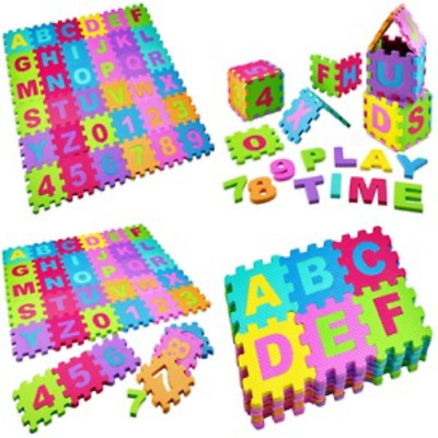 Baby Play Mat Foam Floor Puzzle 36 Tiles Kids Toddler Activity Safety Playmat