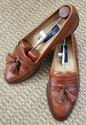 c628633e2d5 Cole Haan Bragano Brown Leather Tassel Loafers Shoes Men s size 9M Italy (s9