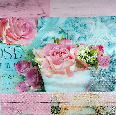 4x Paper Napkins Long Way Home Decoupage Craft for Party