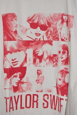 Taylor Swift Concert T-shirt Red White Selfie Adult Small Short Sleeve