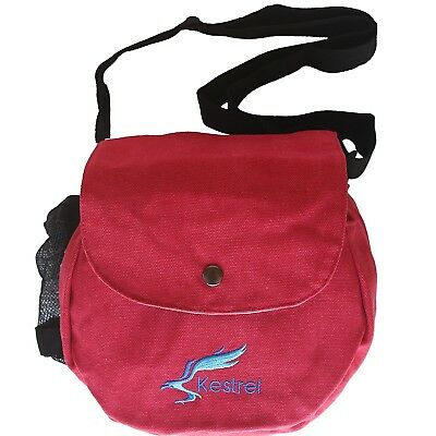 (Red) - Kestrel Disc Golf Bag | Fits 6-10 Discs + Bottle | For Beginner and