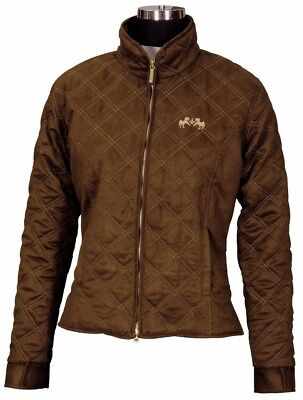 (X-Large, Chocolate Light Tan) - Equine Couture Girl's Natasha Duet Jacket