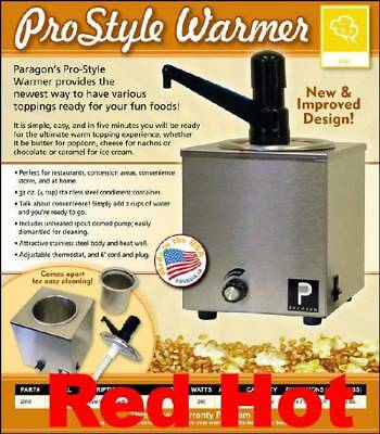 Paragon 2018 Pro Style Dispenser Popcorn Butter Warmer with Pump