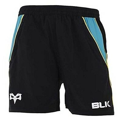 (XX-Large, Black) - Ospreys 2014/15 Players Rugby Gym Shorts. BLK