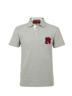 (Large, Z75 Heather) - Front Up Rugby Men's Short Sleeve Polo T-Shirt