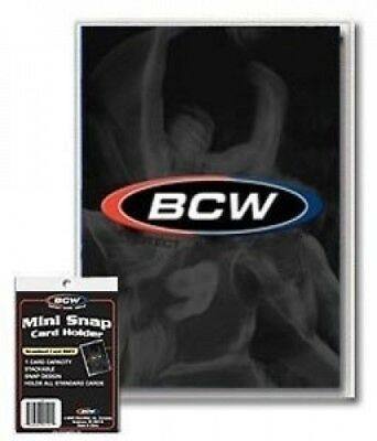 BCW Mini Snap Card Holder (Quantity of 100). Shipping Included