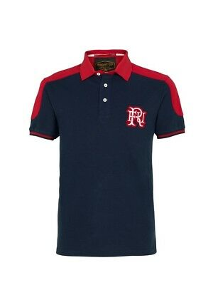 (Large, Z73 Navy) - Front Up Rugby Men's World Tour Short Sleeve Polo T-Shirt