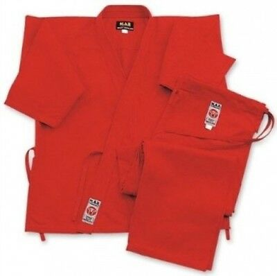 (Red, 160cm) - M.A.R International Karate Uniform GI Suit Outfit Clothing Gear