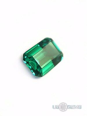 Emerald Green #112A Octagon 7x5mm. 1 ct. SIAMITE Created Gemstone. US@GEMS