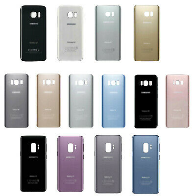 Samsung Galaxy S7 S7 Edge S8 S8+ S9 S9+ Back Battery Cover Rear Door Glass USA