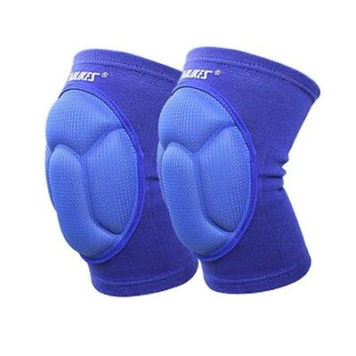 (Blue) - MAIBU Knee Pads (1 Pair) Pain Relief Thick Sponge Collision Avoidance