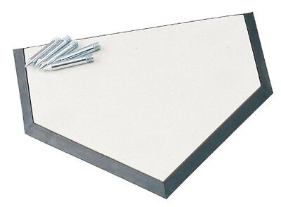 (OS, White) - Champion Sports Save-A-Leg Homeplate. Free Delivery