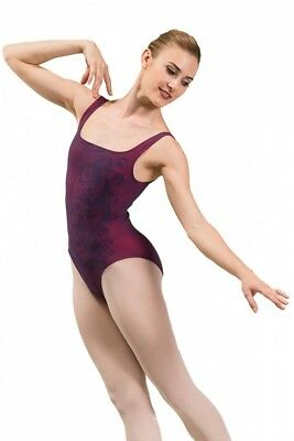 (Prune, Large) - Ballet Rosa India Ladies Sleeveless Leotard. Free Shipping