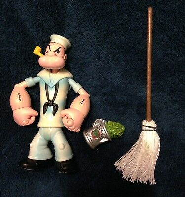 Popeye The Sailorman Mezco Classic 1929 WHITE SAILOR SUIT 2001 spinach Navy mop