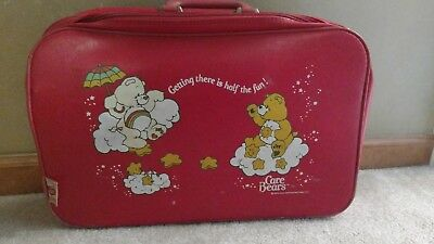 Vintage Care Bears Red Suitcase Travel Bag