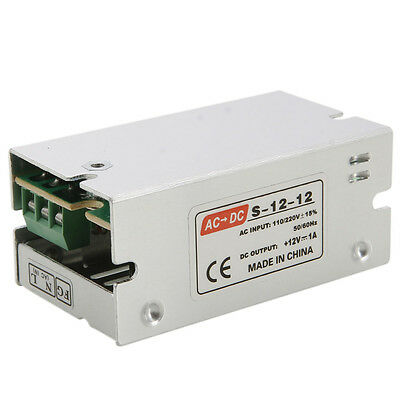 New DC 12V 1A 12W Universal Regulated Switching Power Supply LED CCTV PSU