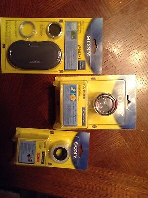 lot of three sony lens ring filter vf-30cpks vad-wa vcl-dh2630 cyber shot