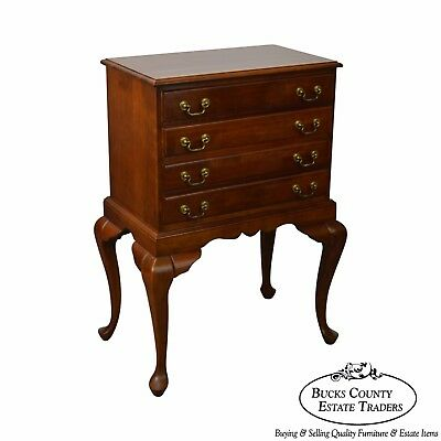 Solid Cherry Queen Anne Style Silver Chest by Crescent