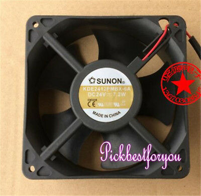 SUNON KDE2412PMBX-6A Daul ball Cooling fan DC24V 7.2W 120*120*38MM 2pin #MF82 QL