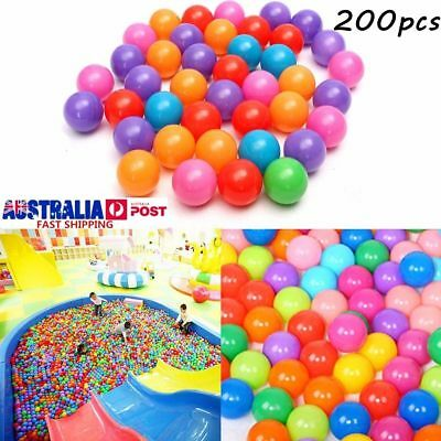 200X Soft Plastic Ocean Balls Baby Kids Swim Pool Play Pit Ball Toy 5.5cm AU