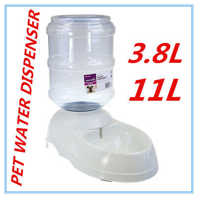 Automatic Plastic Pet GRAVITY Dog Cat Water Feeder Bowl DRINK Fountain Dispenser