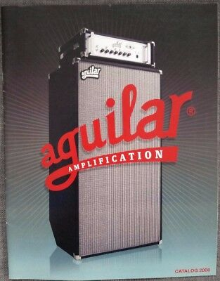 Aguilar Bass Amp catalog 2008 color, 13pgs RARE!
