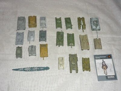 21pc Avalon Hill Axis & Allies Miniatures Lot MOSTLY TANKS MANY RARES!