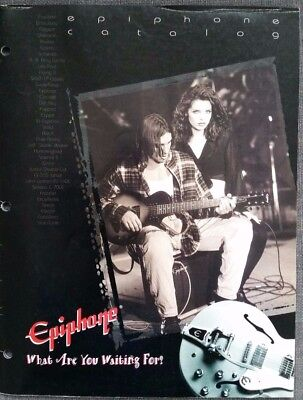 Epiphone Guitars Catalog circa 2000, color, 25pgs Korean Made models