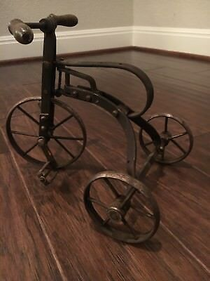 ANTIQUE VINTAGE Metal and Wooden Tricycle Toy