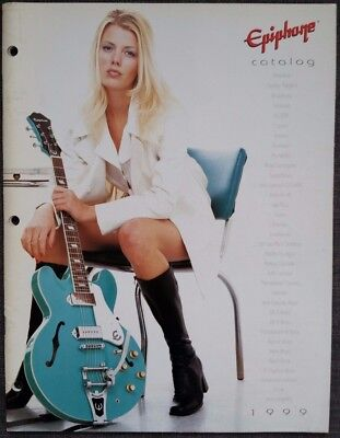 Epiphone Guitars Catalog 1999 color,RARE, Made in Korea models, 48 pgs