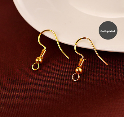Hot Exquisite 100pcs Earring Hook Coil Ear Wire For Jewelry Making Findings