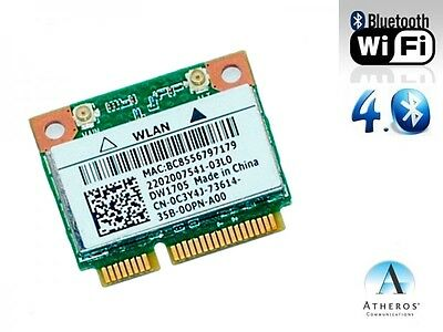 + Atheros QCWB335 DW1705 Windows®10  802.11 b/g/n WLAN+Bluetooth 4.0 Mini PCIe +