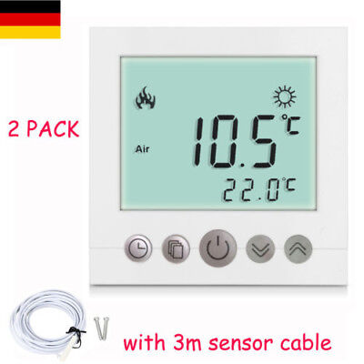 digital thermostat raumthermostat programmierbar fu bodenheizung regler max 16a eur 18 99. Black Bedroom Furniture Sets. Home Design Ideas