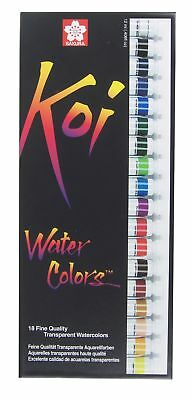 (18 Tube Set, Koi Watercolor Tube Set) - Sakura 15262 18-Piece Koi Assorted